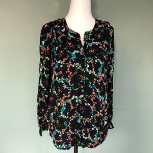 ANTHROPOLOGY MAEVE Daisy Floral Button Down Blouse